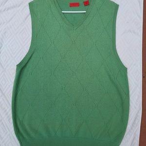 Mens Green IZOD Club Sweater Vest